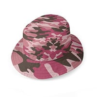 Pink Camouflage Bucket Hat by The Photo Access