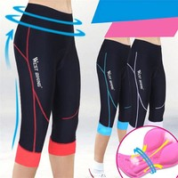 WEST BIKING Women Shorts Racing MTB Outdoor Sports 3D Silicone Soft Padded Bicycle Resilient Female Bike Clothing Shorts