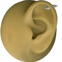 Southwestern Feather Cartilage Earring-16 gauge Earring-Stainless Steel In and Out Earring Barbell