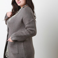 Thick Knit Two Button Coat