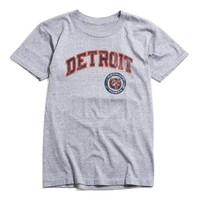 Detroit Tigers Faded Arch & Circle Logo T-Shirt Grey Marle (Small)