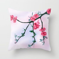 Flowery Spring  Throw Pillow by oursunnycdays