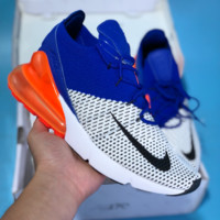 hcxx N450 Nike Air Max 270 Flyknit Sports Running Shoes Blue Orange White