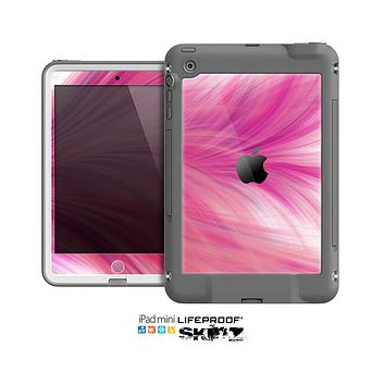 The Abstarct Pink Flowing Feather Skin for the Apple iPad Mini LifeProof Case
