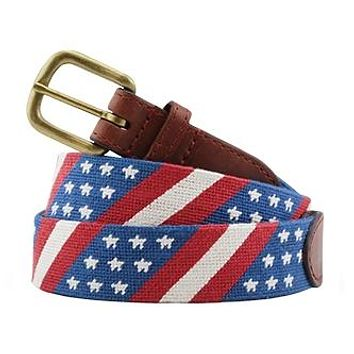 Star Spangled Banner Needlepoint Belt by Smathers & Branson