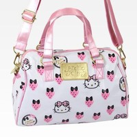 Hello Kitty Boston Bag W/ Carry Strap: Strawberry