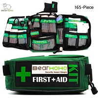 BearHoHo Handy First Aid Kit Bag 165-Piece Lightweight Emergency Medical Rescue Outdoors Car Luggage School Hiking Survival Kits