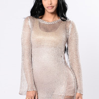 Turks And Caicos Cover Up Tunic - Rose Gold