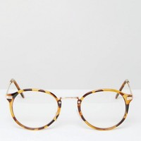 Jeepers Peepers Round Clear Lens Glasses at asos.com