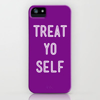 Treat Yo Self Purple - Parks and Recreation iPhone Case by Sandra Amstutz  | Society6