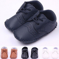 Leather Baby Toddlers Boots Infant Prewalker Boy Girl Baby Soft Sole Crib Shoes