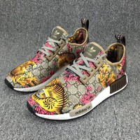 Gucci x Adidas NMD R_1 Boost GG Tiger Pattern Sneakers