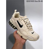 Stussy x Nike Air Zoom Spiridon Caged 2BlackGrey Cool cheap Men's and women's nike shoes