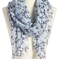Old Navy Womens Floral Gauze Scarves Size One Size - Blue floral