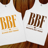 Blonde & Brunnette Best Friends (Pair Tanks) | Skreened.com