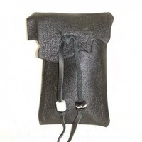 Handcrafted Black Leather Iphone Ipod Cell Case