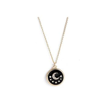 """Moon and Star Necklace-Hollywood Sensations """"Dainty Moon and Star Necklace""""-Moon Star Necklace"""