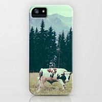 Cows and Mountains iPhone & iPod Case by Ppolecho