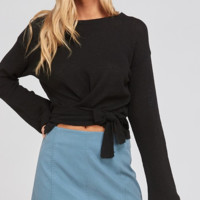 Wrapped Up By The Fire Top - Black