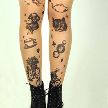 Spring collection - alice in wonderland tights