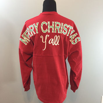 Merry Christmas Y'all in Red