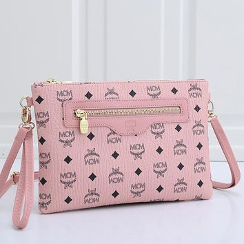 MCM New Products Fully Printed Letters Ladies Shopping Cosmetic Bag Clutch Envelope Bag