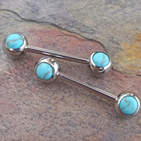Turquoise Nipple Ring Nipple Piercings