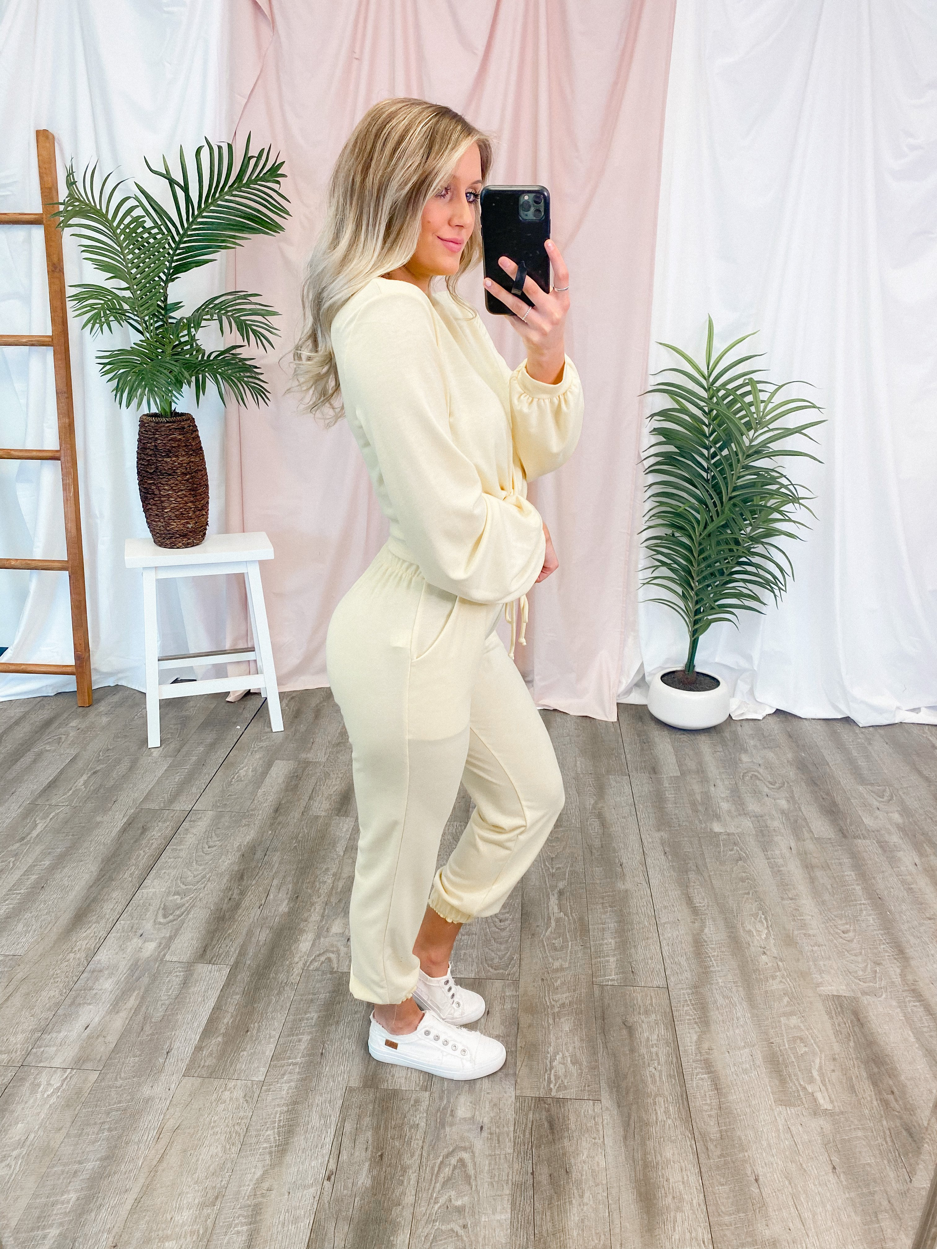 Image of Lounge In Style Joggers (Lemon)FINAL SALE