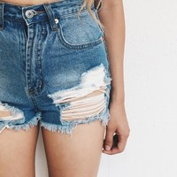 Jodi Distressed High Waisted Shorts | ootdfash