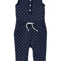 Old Navy Polka Dot Terry Fleece Rompers For Baby