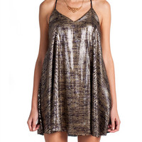 SPARKLE SEQUIN STRAPPY DRESS