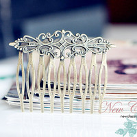 Brass Hair Comb Antique Bronze Vintage Style by EtsyPendants