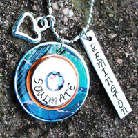 Couples Necklace - Soulmate Charm Necklace - Personalized