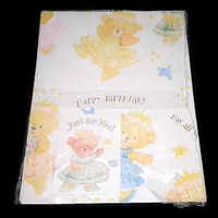 Happy Birthday Gift Wrapping Paper American Greetings Bear Pricess with Card Baby Gift Wrap Sheet Birthday Wrap Baby Shower Wrapping Paper