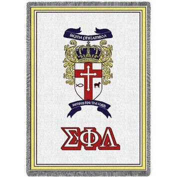 SIGMA PI AFGHAN THROW BLANKET