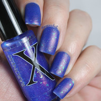 Alhambra - Cobalt Blue Jelly Polish with Flakies, Holo Shards and Red to Green Pigment