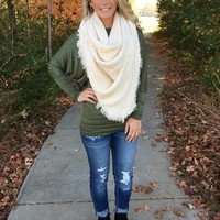 The Perfect Blanket Scarf - Ivory