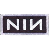 Nine Inch Nails Men's Embroidered Patch Black