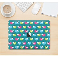 """The Vibrant Colored Vector Bird Collage Skin Kit for the 12"""" Apple MacBook (A1534)"""