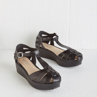 ModCloth Vintage Inspired First Date-iversary Wedge