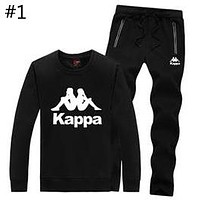 Kappa autumn and winter new plus velvet casual sportswear sweater cardigan running two-piece #1