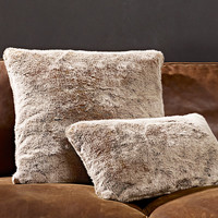 Luxe Faux Fur Pillow Covers - Lynx