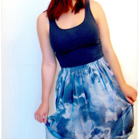 Handmade Asymmetrical Skirt Cloudy Skies by ThisIsClothing on Etsy