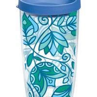 Molly Z - Blue Bohemian Flower Wrap with Lid - 16oz | 16oz Tumbler | Tervis®