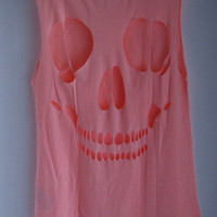 Skull Cut Out Tee Shirt