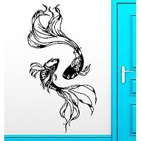 Wall Sticker Fishes Water Marine Ocean Beautiful Cool Decor For Bedroom  Unique Gift (z2512)