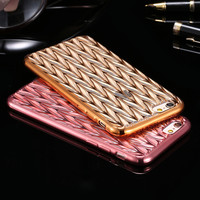 Luxury Gold Plating Frame + Clear Back Case For iPhone 6 6S 4.7'' For iPhone 6 Plus / 6S Plus Transparent Light Slim Phone Cover