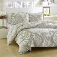City Scene Medley 3-pc. Duvet Cover Set - Full/Queen (Grey)