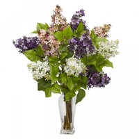 Lilac Silk Flower Arrangement (Assorted)