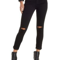 Black Hi-Rise Skinny High-Waisted Jeans by Charlotte Russe